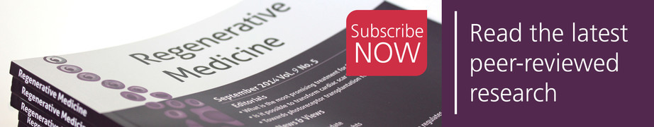 Subscribe to Regenerative Medicine to read the latest research