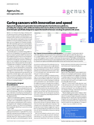 Curing cancers with innovation and speed