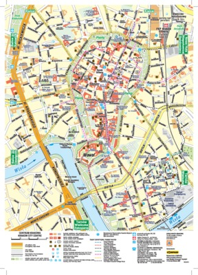 Krakow_city centre_map
