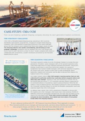 Case study CMA CGM
