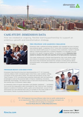 Dimension Data Case Study (UK)