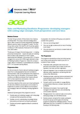 FTIE-CLA-Acer-Case-Study