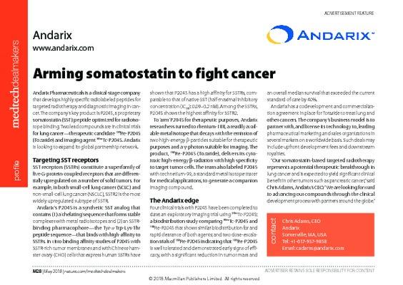 Arming somatostatin to fight cancer