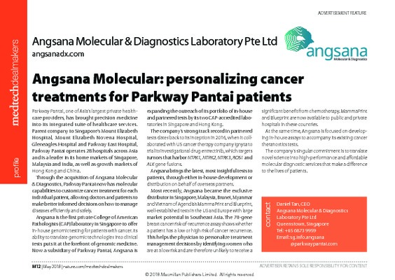 Angsana Molecular: personalizing cancer treatments for Parkway Pantai patients