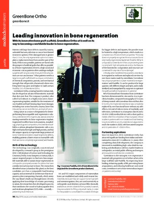 Leading innovation in bone regeneration