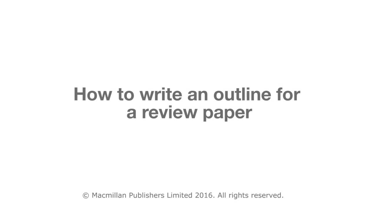 an outline for a paper