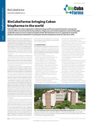 BioCubaFarma: bringing Cuban biopharma to the world