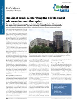BioCubaFarma: accelerating the development of cancer immunotherapies