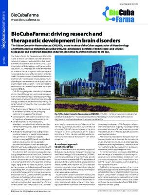 BioCubaFarma: driving research and therapeutic development in brain disorders