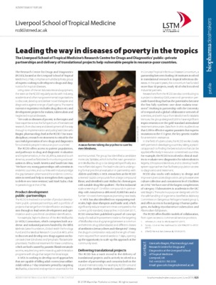 Leading the way in diseases of poverty in the tropics