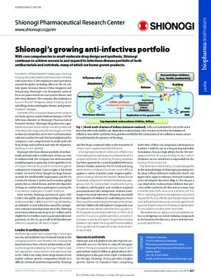 Shionogi's growing anti-infectives portfolio