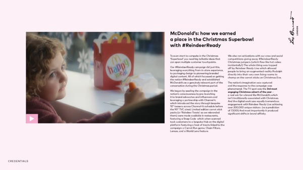 McDonald's ReindeerReady case study