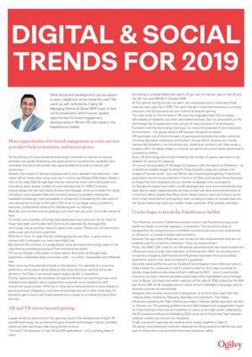 Jai Kotecha - Digital and Social trends 2019