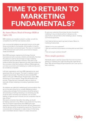 James Myers - Marketing Fundamentals