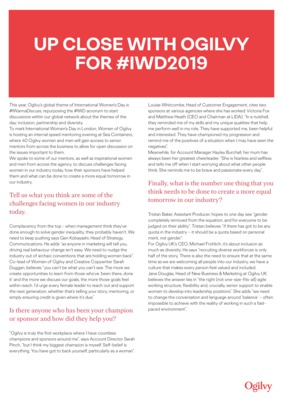 Up Close with Ogilvy for IWD2019