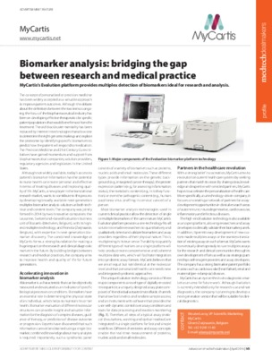 Biomarker analysis: bridging the gap between research and medical practice