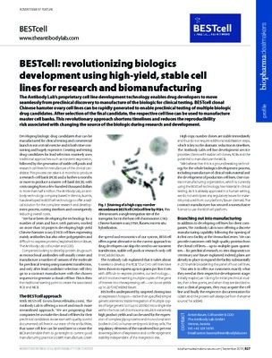 BESTcell: revolutionizing biologics development using high-yield, stable cell lines for research and biomanufacturing