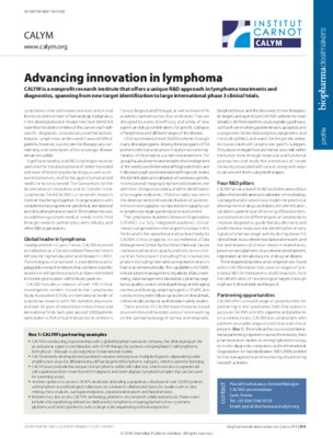 Advancing innovation in lymphoma