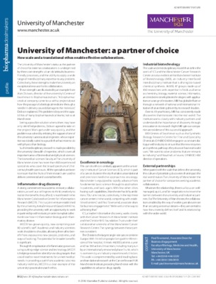 University of Manchester: a partner of choice