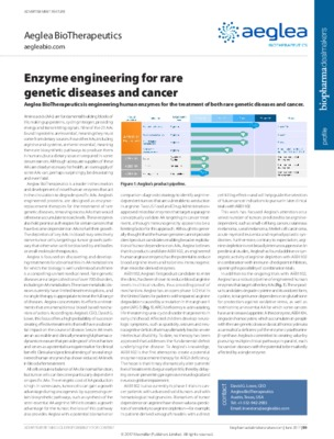 Enzyme engineering for rare genetic diseases and cancer