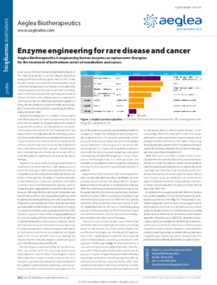 Enzyme engineering for rare disease and cancer