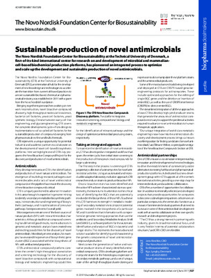 Sustainable production of novel antimicrobials