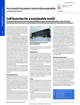 Cell factories for a sustainable world