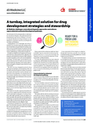 A turnkey, integrated solution for drug development strategies and stewardship