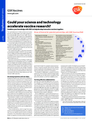 Could your science and technology accelerate vaccine research?