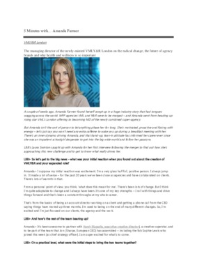 5 Minutes with… Amanda Farmer