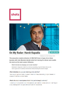 Harsh Kapadia: On My Radar
