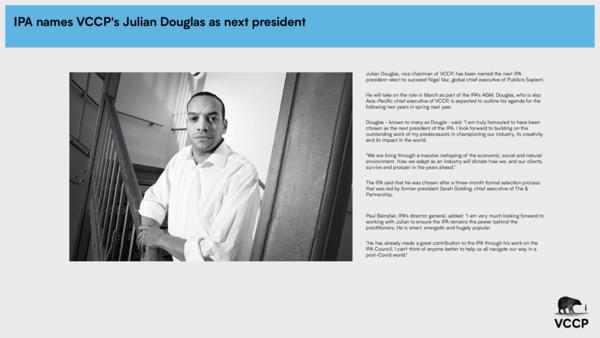 IPA names VCCP's Julian Douglas as next president