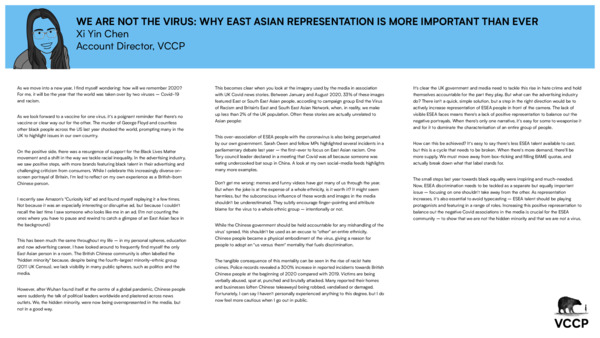 Xi Yin Chen - We are not a virus: why East Asian representation is more important than ever