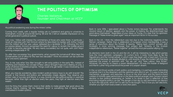 Charles Vallance - The politics of optimism