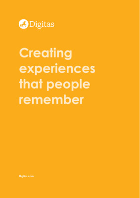 Creating experiences that people remember