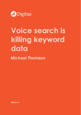 Voice search is killing keyword data