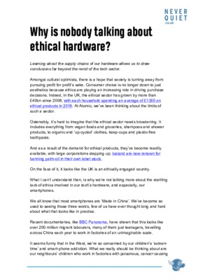 Why is nobody talking about ethical hardware?