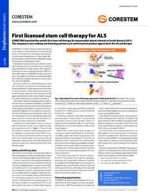 First licensed stem cell therapy for ALS