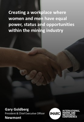 Creating a workplace where women and men have equal power status and opportunities within the mining industry