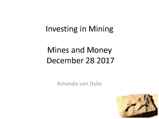 Winning Mining Investment Strategies