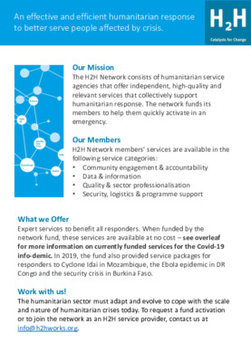 H2H Network COVID-19 Support Package
