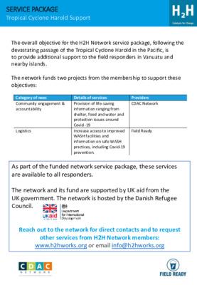 Vanuatu: H2H Network Support Package