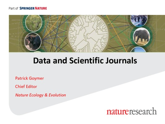 Data and Scientific Journals