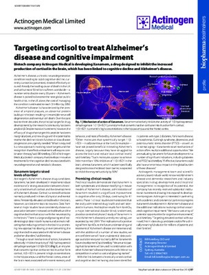 Targeting cortisol to treat Alzheimer's disease and cognitive impairment