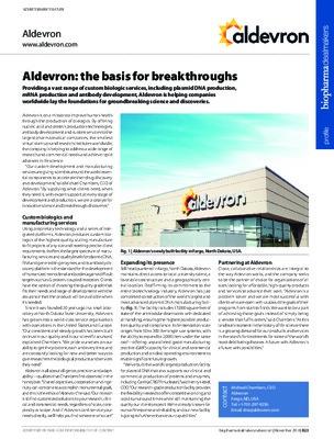 Aldevron: the basis for breakthroughs