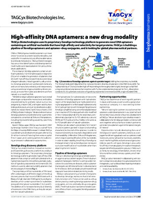 High-affinity DNA aptamers: a new drug modality