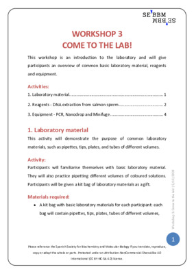 Come to the lab – SEBBM workshop 3