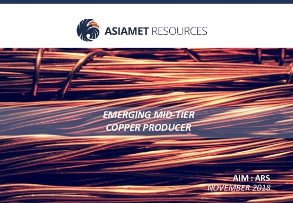 Asiamet Resources: Emerging Mid-Tier Copper Producer