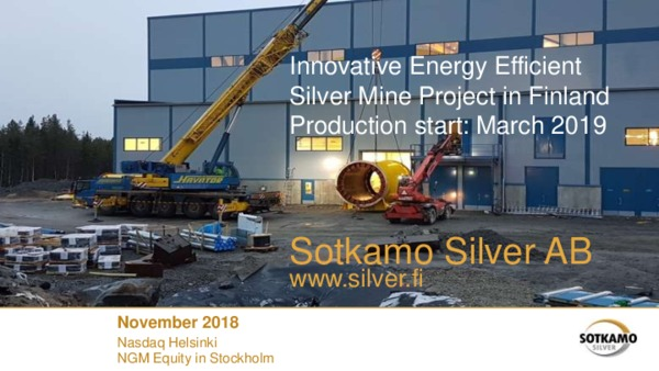 Innovative Energy Efficient Silver Mine Project in Finland