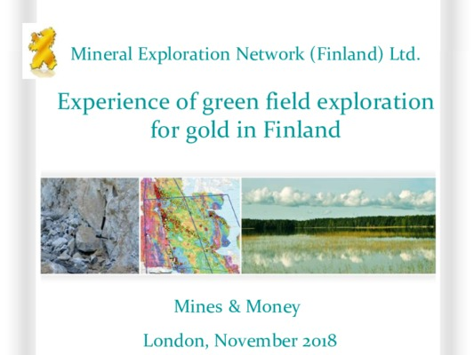 Experience of green field exploration for gold in Finland